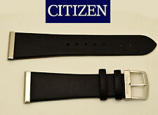 Citizen Eco Drive Original  Black Leather Watch Band 20mm AU1035-08E