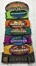 SURVIVOR BUFFS: Buff Set from Seasons 1 - 5 on Totem Display Stand - BRAND NEW