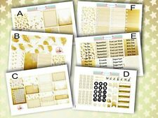 GOLD collection HOMEMADE Planner Stickers for Erin EC Planner Layout Kit