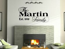 "24"" Personalized Custom Family Name Wall Decal vinyl lettering quote 24 colors"