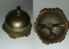 Vintage Brass Front Desk Service Bell Counter Call Bellhop Hotel Reception WORKS