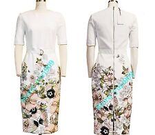 Ted Baker London IVORY LayLi Gem Garden Bodycon Dress Size 4 (US 10) $315
