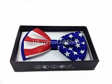 Brand New USA Flag Clip On Tuxedo Bowtie