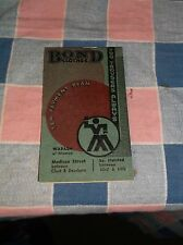 1934-1935 Bond Clothes Chicago Ill Some Sheets Used  Calendar in Back