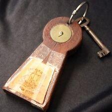 Vintage POUSADA DA RIA Portugal HOTEL Wood Key Fob & Key
