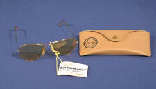 Vtg Ray Ban Ambermatic B+L Bausch and Lomb Yellow Sunglasses Aviator Shooters