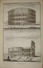 "Stampa antica ""Colosseo"" Diderot D'Alambert Roma Rome Colosseum old print"