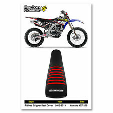 2010-2013 YAMAHA YZF 250 Black/Red RIBBED SEAT COVER BY Enjoy Mfg
