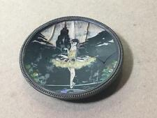 Antique Deco Shipton Butterfly Wing Sterling Dish BALLERINA Ballet