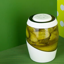 Mortier Pilon 2-Liter Fermentation Crock Sauerkraut Pickles Kimchi Brine Pickle