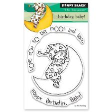 PENNY BLACK RUBBER STAMPS CLEAR BIRTHDAY BABY NEW clear STAMP