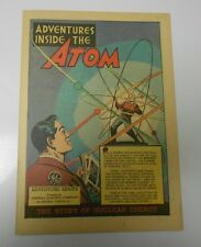 1948 ADVENTURES INSIDE THE ATOM Give-Away PROMO NM- General Electric Nuclear