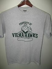 Viera High School Hawks Florida USA Gym Class Sports Team Gray T Shirt Medium