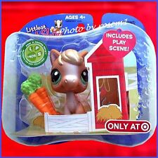 2007 Littlest Pet Shop TARGET EXCLUSIVE 405 PALOMINO PONY 1st HORSE w CARROTS