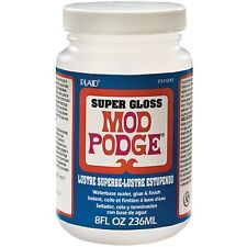 Genuine Mod Modge Podge 8 oz Super Gloss Finish Coat - Decoupage