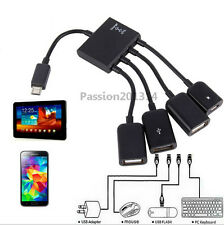 4 Port Micro USB Power Charging OTG HUB Cable For Smartphone Tablet Samsung PC
