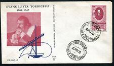 1958 - Evangelista Torricelli - Sassone n.842  - Busta F.D.C.