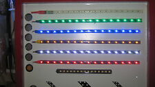 "3 Flexy 12"" 30cm Red White & Blue LED Bendi Strips with Super Sharp Colours DIY"