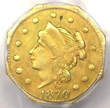 1870 Liberty 25C California Gold Quarter Bg-757 R6. Pcgs Au Details - Rarity-6!