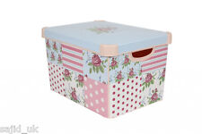 Curver Stockholm Large Design Deco Storage Box with Lid 22L - Floral - FREE P&P