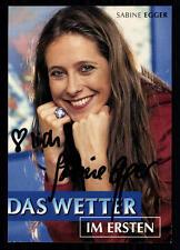 Sabine Egger ARD Autogrammkarte Original Signiert ## BC 26755