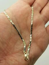 "10k Solid Yellow Gold Mariner Anchor Anklet Chain 10"" 2.3mm"