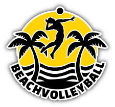 "Beach Volleyball Car Bumper Sticker Decal 5"" x 5"""