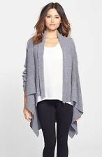 NEW Nordstrom Collection Gray Mixed Stitch Cashmere Blend Cardigan Size XS