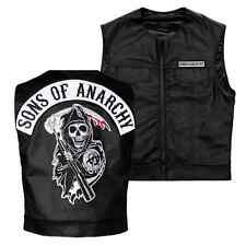 KIDS Medium Sons Of Anarchy Licensed Biker Vest Reaper Patch Jax Teller SAMCRO