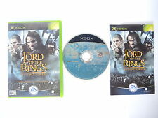 LORD OF THE RINGS THE TWO TOWERS complete in box with manual XBOX videogame PAL