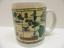 Map Of Hawaiian Islands Coffee Mug 1996 Island Treasures Hawaii