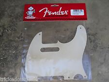 RELIC GENUINE FENDER VINTAGE TELE PICKGUARD WHITE 1 PLY 5 HOLE AGED 0051514000
