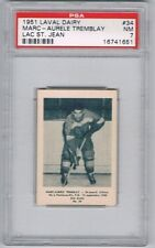 1951 Laval Dairy Lac St. Jean Hockey Card #34 M-A Tremblay Graded PSA 7