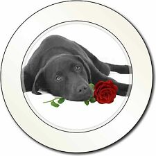 Labrador with Red Rose Car/Van Permit Holder/Tax Disc Gift, AD-L54R2T