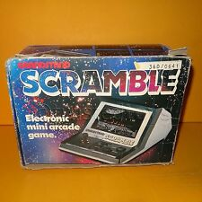 VINTAGE 1982 80s GRANDSTAND 11253 SCRAMBLE ELECTRONIC MINI ARCADE GAME BOXED