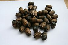 20 - Stained wooden Barrels for Lionel & other model train layouts. Dark Walnut