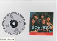 BON JOVI  -  I'LL BE THERE FOR YOU   4 TR RARE  GER WITH LIVE TRACKS  CARD