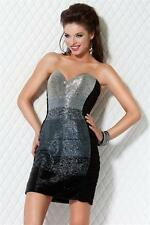 Jovani Black Strapless Embellished Short Prom Evening Party Dress Sz 4 NWT