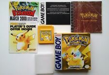 Nintendo GameBoy Pokemon Pikachu Yellow Edition Complete in Box New Save Battery
