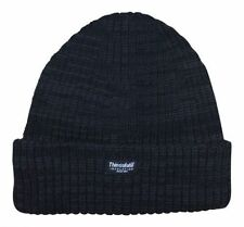 Mens Knitted Hat Thinsulate Warm Winter WoolyOutdoor Chunky Thermal Beanie BlacK