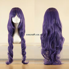 80cm long wavy curly cosplay wig in greyish purple, UK seller, Jeri style