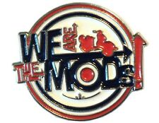 We Are The Mods Roundel Target Metal Scooter Bike Rider Metal Enamel Badge
