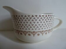 ROYAL CHINA Chippendale CREAMER Brown Triangle Dots Pink~Yellow Floral