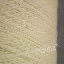 PURE WOOL YARN 500g CONE 10 BALL 3 PLY UNDYED ECRU NATURAL CREAM KNITTING DYEING