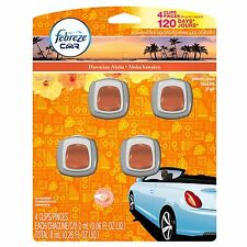 4 Febreze Car Vent Clips, Air Freshener,Eliminates Ordors,Scent: Hawaiian Aloha