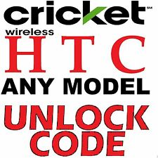 Unlock Code HTC Desire 520 510 512 625 626s Cricket Wireless USA Sim Network Pin