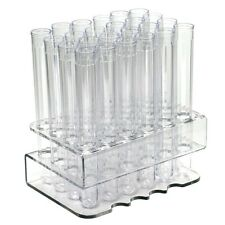 """Test Tube Rack with 24 Clear 6"""" Test Tube Shot Glass and Caps"""