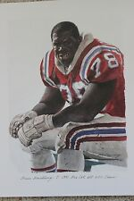 Bruce Armstrong New England Patriots Merv Corning NFL All Pro Bowl Set AFC Litho