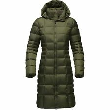 The North Face Women's METROPOLIS II Parka 550 Down Jacket Trench Coat Green M