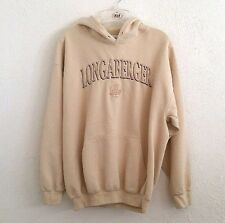 Longaberger Basket Hooded Sweatshirt Hoodie Cream Women's L Large Shirt